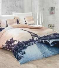 POSTELJINA 3D SATEN LUOCO PATISCA DOUBLE ROMANTIC PARIS
