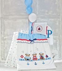 POSTELJINA BABY LUOCA PATISCA SAILOR BLUE