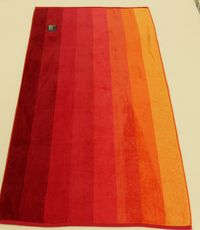 PLAZNI PESKIR Beach Master 86x170 - Orange Gradient