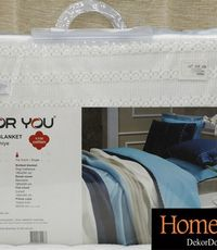 FOR YOU - KNITTED BLANKET SET FABRESS - plava